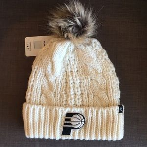 NWT Pacers knit hat with Pom!